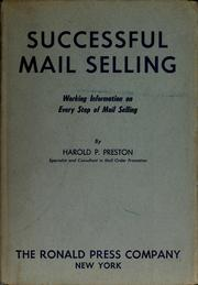 Cover of: Successful mail selling | Harold P. Preston