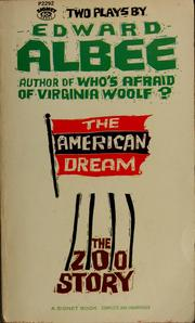 Cover of: Two Plays: The American Dream & The Zoo Story