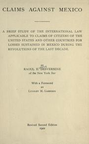 Cover of: Claims against Mexico
