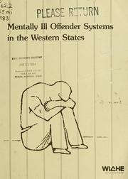 Cover of: Mentally ill offender systems in the western states | Meredith Davis