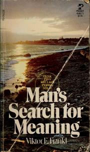 Cover of: Man's Search for Meaning | Viktor Emil Frankl