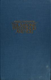 Cover of: The Aaronic priesthood and you