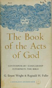Cover of: The Book of the acts of God