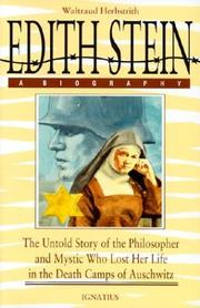 Cover of: Edith Stein