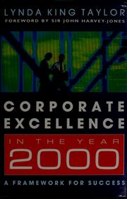 Cover of: Corporate excellence in the year 2000 | Lynda King Taylor