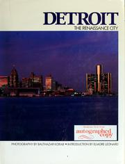 Cover of: Detroit, the renaissance city by Balthazar Korab