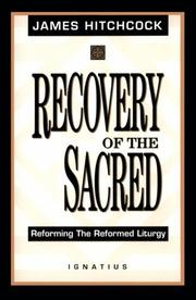 Cover of: The recovery of the sacred