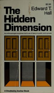 Cover of: The hidden dimension | Edward T. Hall