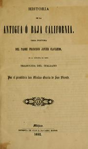 Storia della California by Francesco Saverio Clavigero