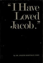 Cover of: I have loved Jacob