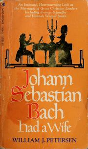 Cover of: Johann Sebastian Bach had a wife