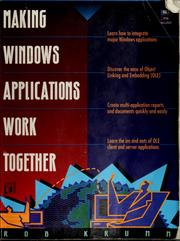 Cover of: Making Windows applications work together