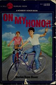 Cover of: On my honor | Marion Dane Bauer