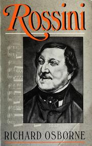 Rossini by Osborne, Richard