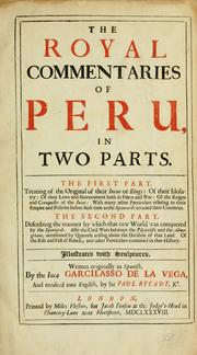 Cover of: The royal commentaries of Peru, in two parts