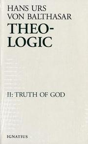 Cover of: Theo-Logic | Hans Urs von Balthasar