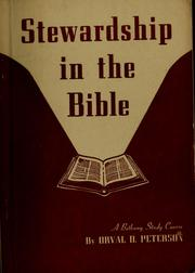 Cover of: Stewardship in the Bible | Orval Douglas Peterson