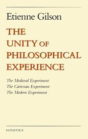 Cover of: The Unity of Philosophical Experience