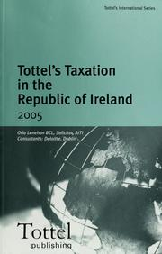 Cover of: Tottel's taxation in the Republic of Ireland 2005 | Orla Lenehan