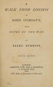 Cover of: A walk from London to John O' Groats