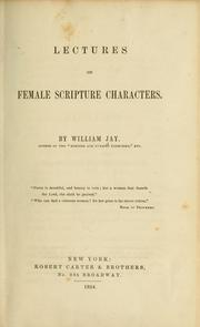 Lectures on female Scripture characters.