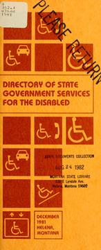 Cover of: Directory of state government services for the disabled | Vivian Crabtree