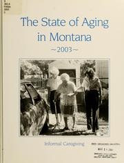 Cover of: The state of aging in Montana 2003 | Doug Blakley