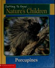 Cover of: Porcupines | Laima Dingwall
