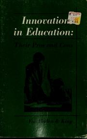 Cover of: Innovations in education | Herbert I. Von Haden