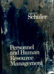 Cover of: Personnel and human resource management
