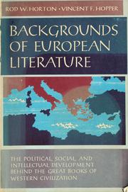 Cover of: Backgrounds of European literature