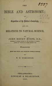 Cover of: The Bible and astronomy