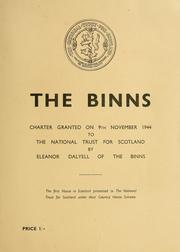 Cover of: The Binns | National Trust for Scotland