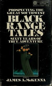 Cover of: Black range tales | McKenna, James A.