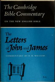 Cover of: The letters of John and James