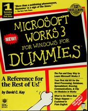 Cover of: Microsoft Works 3 for Windows for dummies | David C. Kay