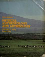Cover of: Physical anthropology and archeology | Clifford J. Jolly