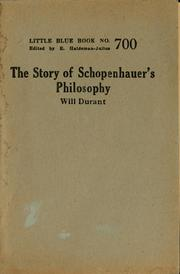 Cover of: The story of Schopenhauer's philosophy