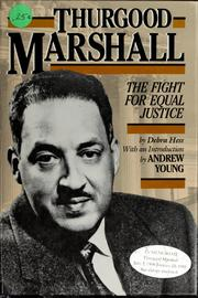Cover of: Thurgood Marshall: the fight for equal justice
