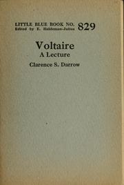 Cover of: Voltaire: a lecture