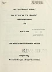 Cover of: The potential for drought in Montana for 1998