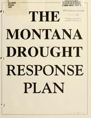 Cover of: The Montana drought response plan