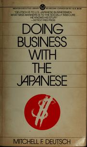 Cover of: Doing business with the Japanese