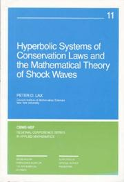 Cover of: Hyperbolic Systems of Conservation Laws and the Mathematical Theory of Shock Waves (CBMS-NSF Regional Conference Series in Applied Mathematics)