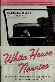 Cover of: White House Nannies | Barbara Kline
