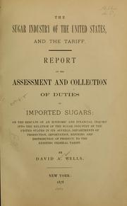 Cover of: The sugar industry of the United States ... | David A. Hills