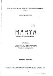 Cover of: Marya