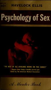 Cover of: Psychology of sex: a manual for students