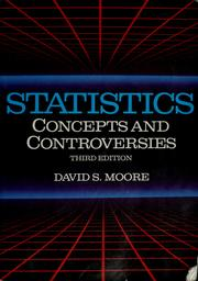 Cover of: Statistics | David S. Moore