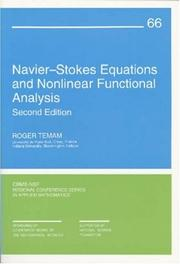 Cover of: Nav ier-Stokes equations and nonlinear functional analysis